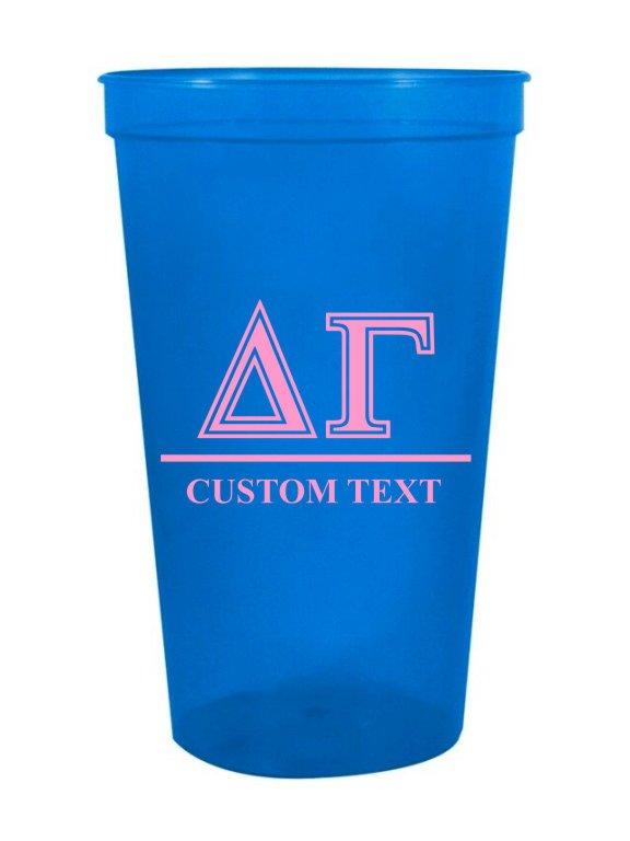 Delta Gamma Custom Greek Symbolized Stadium Cup