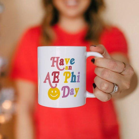 Alpha Epsilon Phi Have A Day Coffee Mug