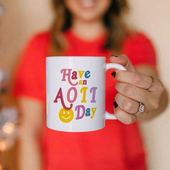 Alpha Omicron Pi Have A Day Coffee Mug