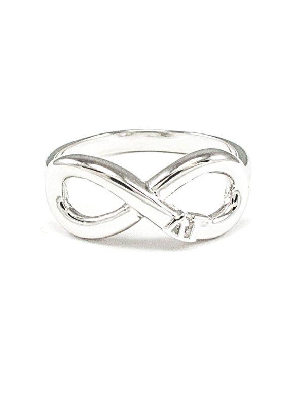 Sorority Sterling Silver Infinity Ring
