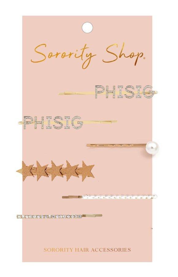 Phi Sigma Sigma Hair Clips