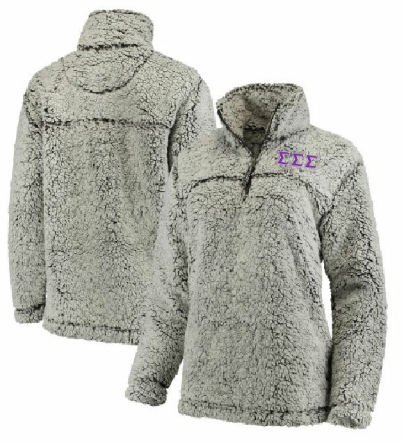 Sigma Sigma Sigma Sherpa Quarter Zip Pullover