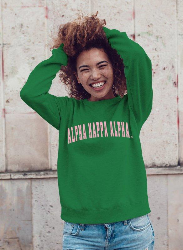 Alpha Kappa Alpha Letterman Sweatshirt