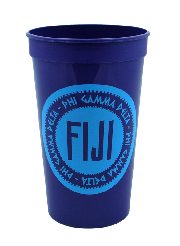 Set of 10 - FIJI Fraternity Big Ancient Greek Letter Stadium Cup - Clearance!!!