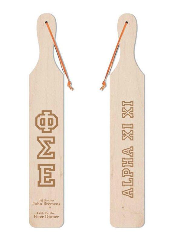 Pi Sigma Epsilon Old School Wood Greek Paddle