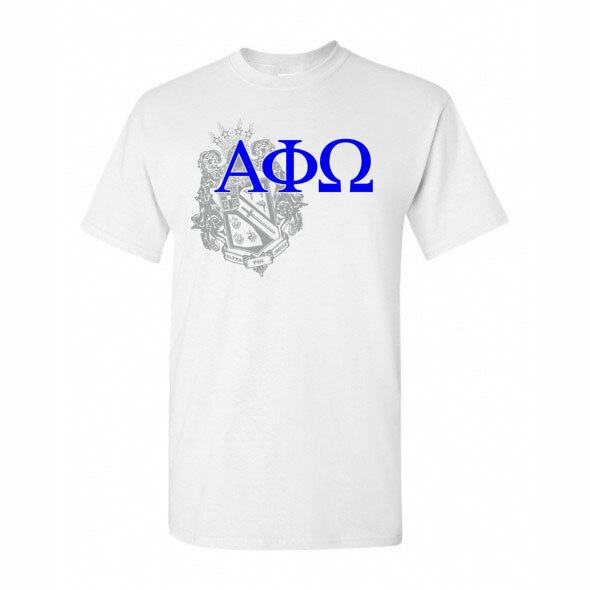 Alpha Phi Omega Greek Crest - Shield T-Shirt