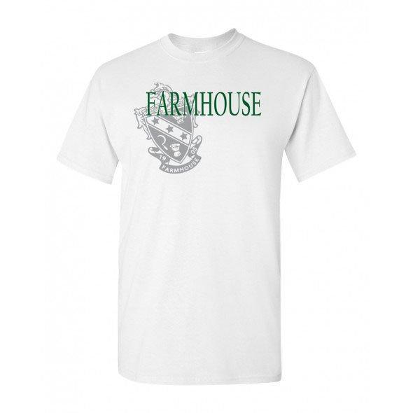 FarmHouse Fraternity Crest - Shield T-Shirt