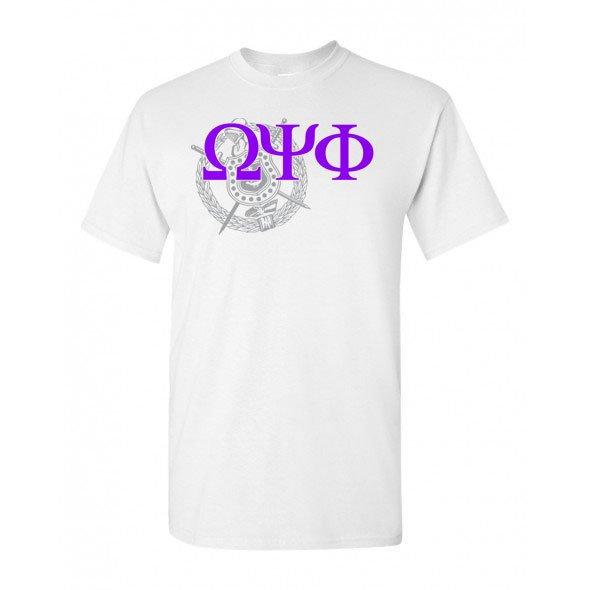 Omega Psi Phi Greek Crest - Shield T-Shirt