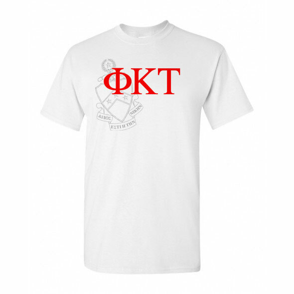 Phi Kappa Tau Greek Crest - Shield T-Shirt