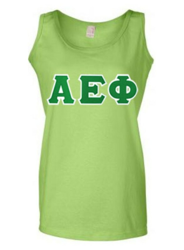 DISCOUNT-Alpha Epsilon Phi Lettered Ladies Tank Top