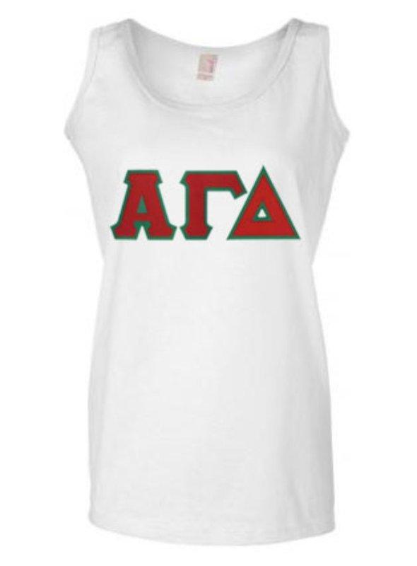 DISCOUNT-Alpha Gamma Delta Lettered Ladies Tank Top