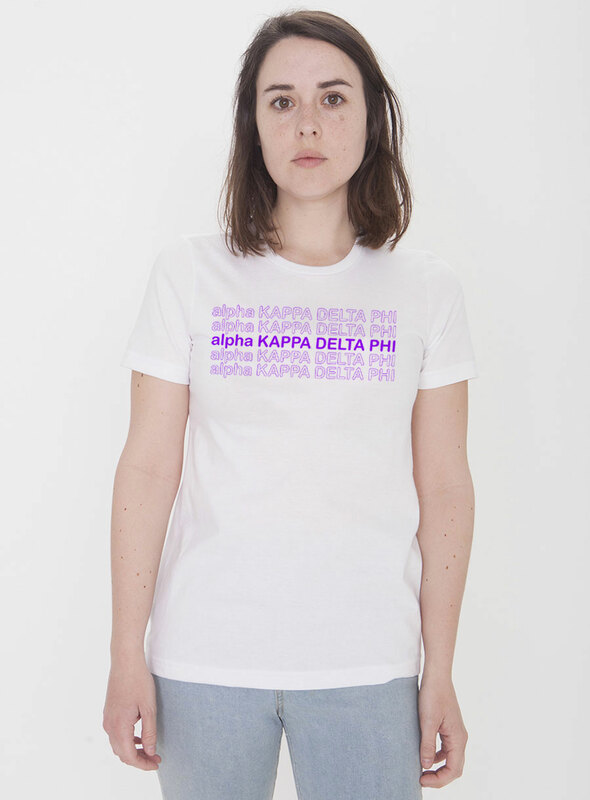 alpha Kappa Delta Phi Thank You For Shopping Tee - Comfort Colors