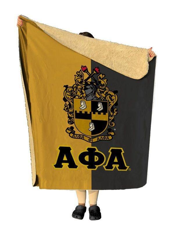 Alpha Phi Alpha Two Tone Two Tone Sherpa Lap Blanket