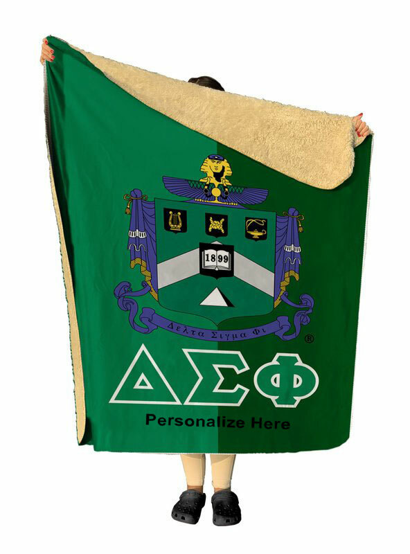 Delta Sigma Phi Two Tone Two Tone Sherpa Lap Blanket