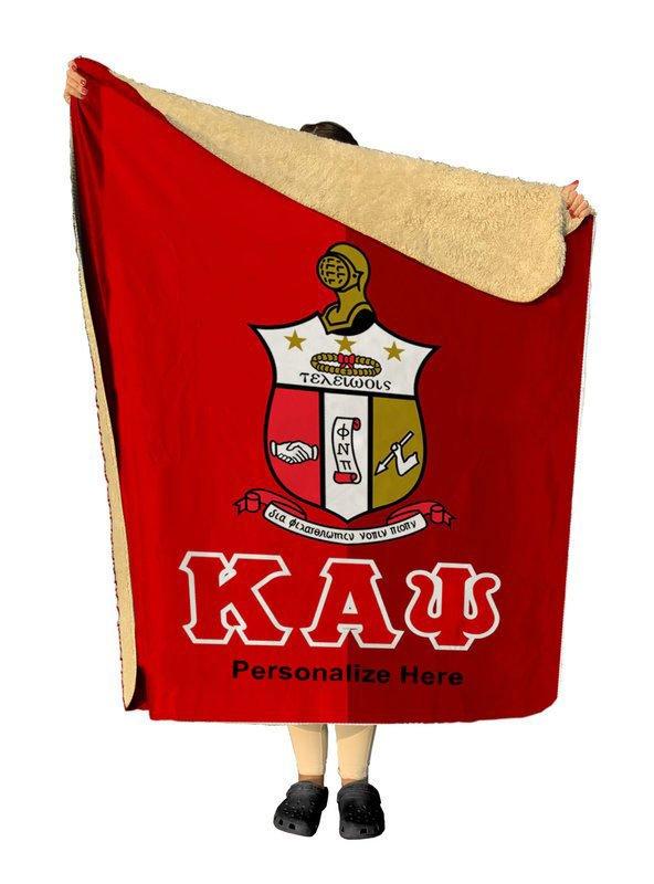 Kappa Alpha Psi Two Tone Two Tone Sherpa Lap Blanket