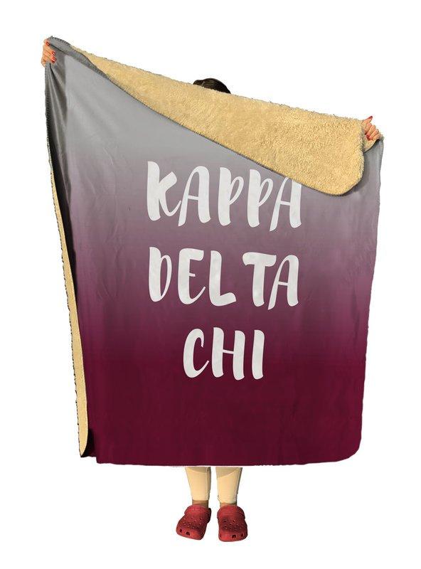 Kappa Delta Chi Gradient Sherpa Lap Blanket