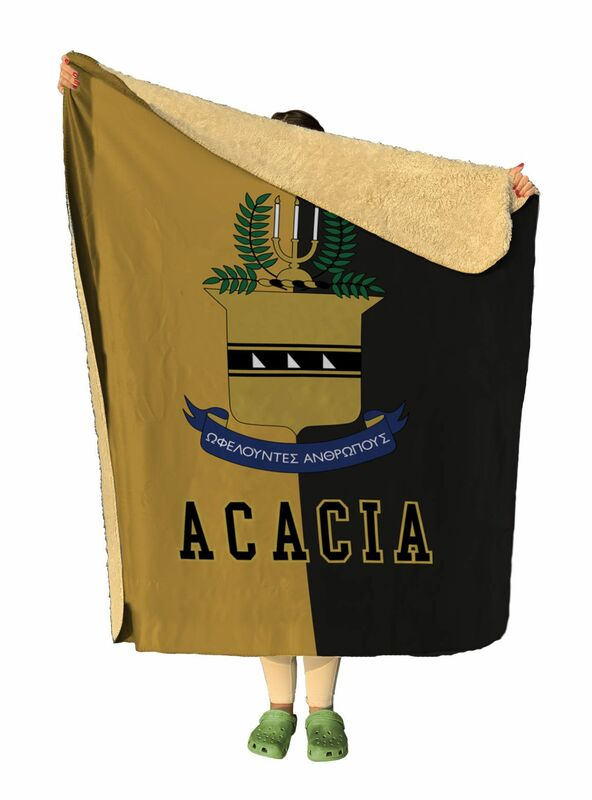Fraternity Two Tone Two Tone Sherpa Lap Blanket