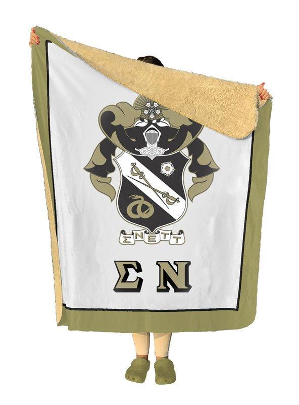 Sigma Nu Sherpa Lap Blanket