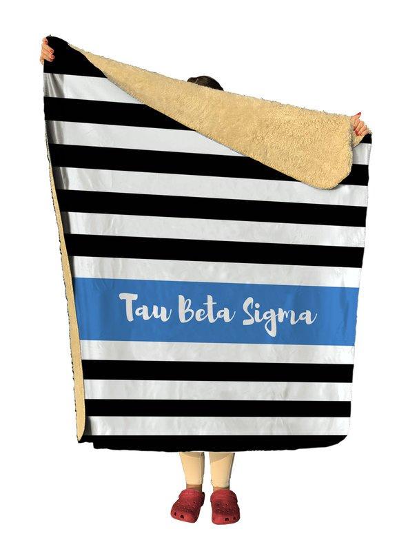 Tau Beta Sigma Stripes Sherpa Lap Blanket