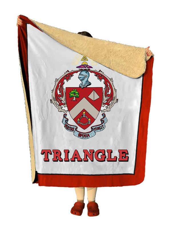 Triangle Sherpa Lap Blanket