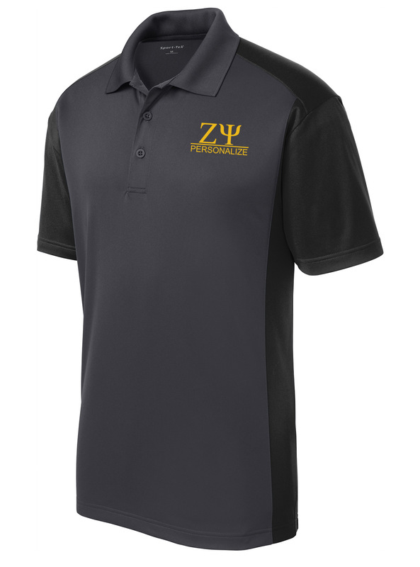 Zeta Psi- $30 World Famous Greek Colorblock Wicking Polo