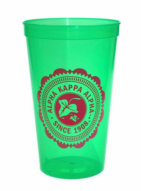 BULK DEAL - Alpha Kappa Alpha Old Style Classic Giant Plastic Cup (Set of 10)