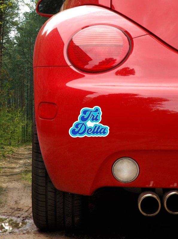 Delta Delta Delta Retro Sorority Car Magnet Set of 2