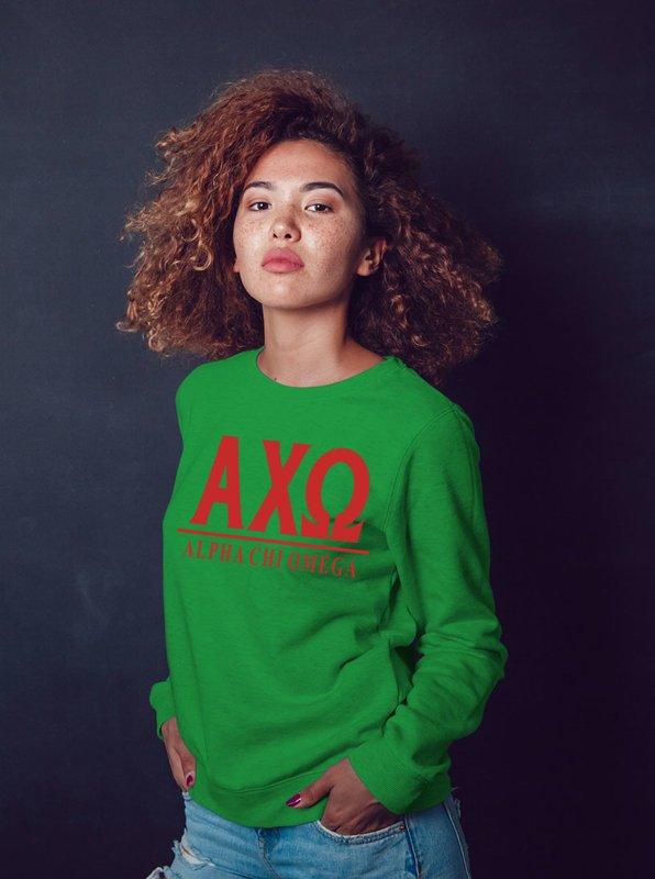 Alpha Chi Omega Message Crewneck Sweatshirts