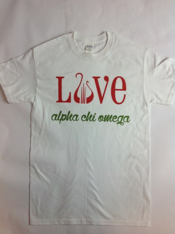 Super Savings - Alpha Chi Omega Love Mascot Tee - WHITE
