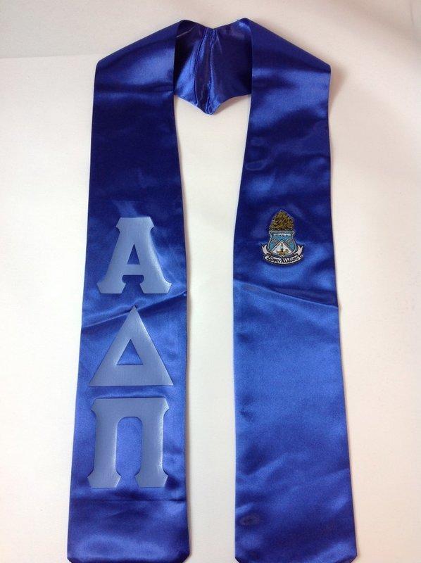Super Savings - Alpha Delta Pi Graduation Sash - ROYAL LT BLUE LETTERS SALE   20.00. - Greek Gear® 23b831c99585
