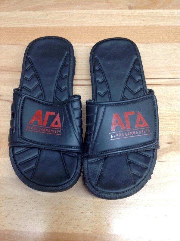 Super Savings - Alpha Gamma Delta Slides - Black - Size 7 - 1 of 5
