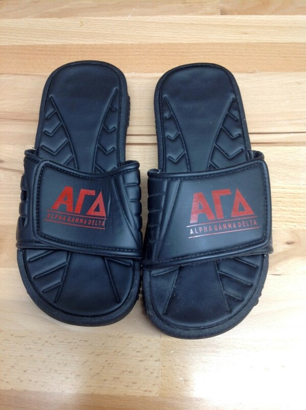 Super Savings - Alpha Gamma Delta Slides - Black - Size 7 - 3 of 5