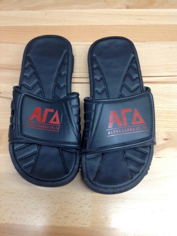 Super Savings - Alpha Gamma Delta Slides - Black - Size 7 - 4 of 5