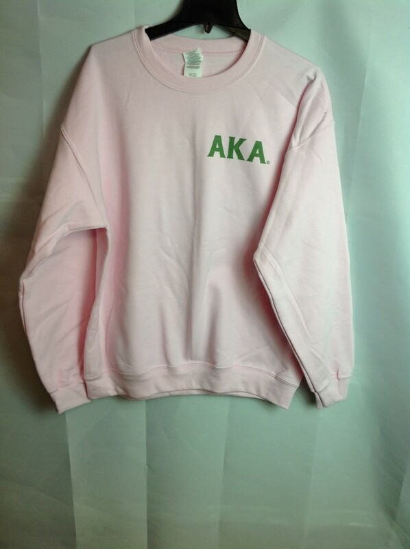 Super Savings - Alpha Kappa Alpha World Famous Crest - Shield Crewneck - Pink - XL - 2 of 3