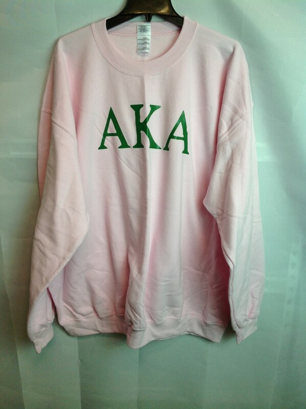 Super Savings - Alpha Kappa Alpha World Famous Letter Crewneck - Pink