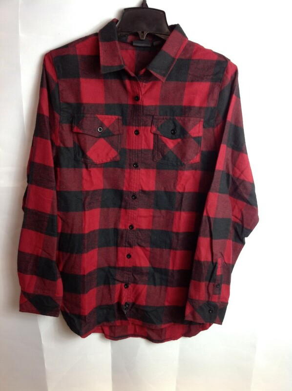 Super Savings - Alpha Omicron Pi Flannel Long Sleeve Shirt - Red
