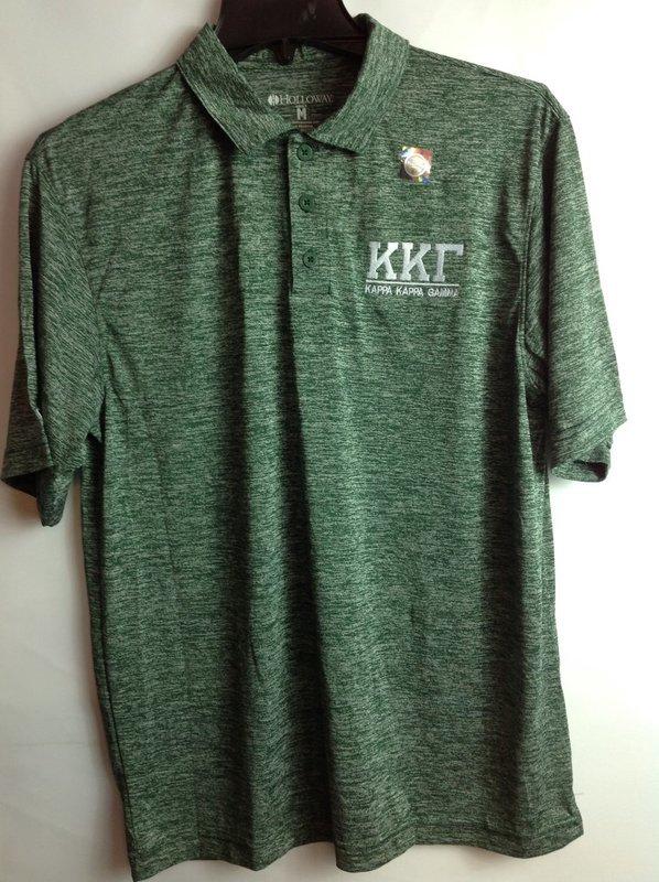 9c9cf9607c20 Super Savings - Kappa Kappa Gamma Letter Electrify Polo - Green SALE  $20.00. - Greek Gear®