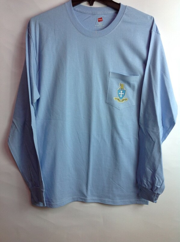 Super Savings - Sigma Chi Crest - Shield Long Sleeve Tee 5 of 9 - LT BLUE