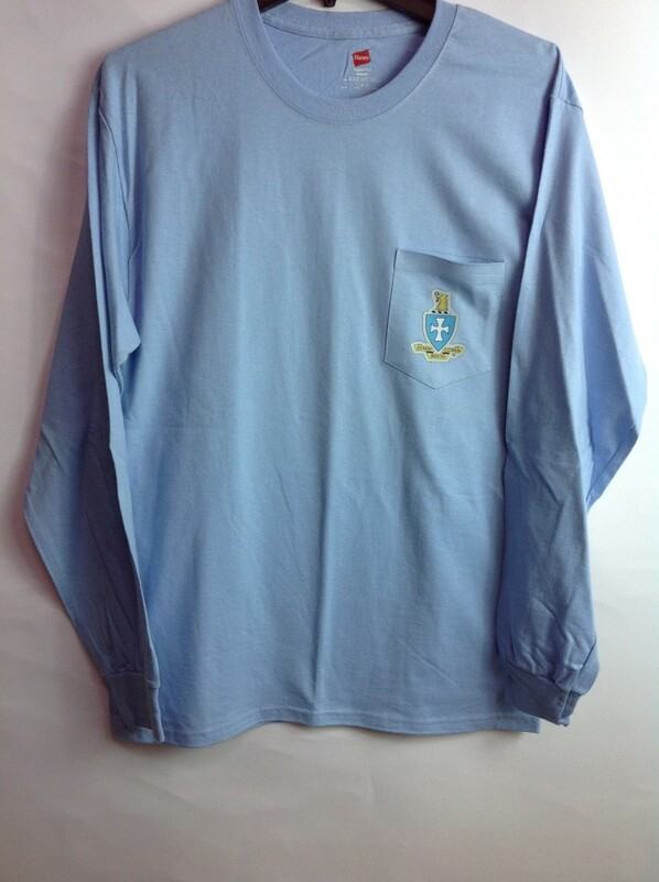 Super Savings - Sigma Chi Crest - Shield Long Sleeve Tee 7 of 9 - LT BLUE