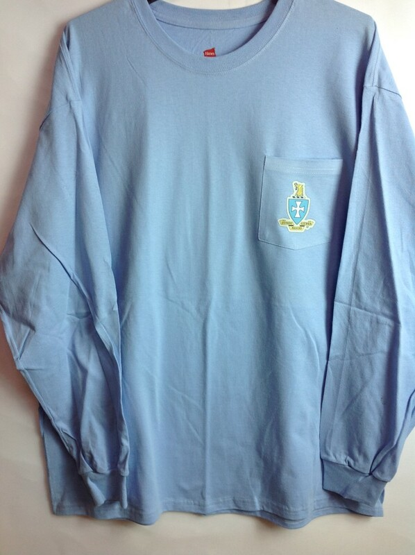 Super Savings - Sigma Chi Crest - Shield Long Sleeve Tee - LT BLUE