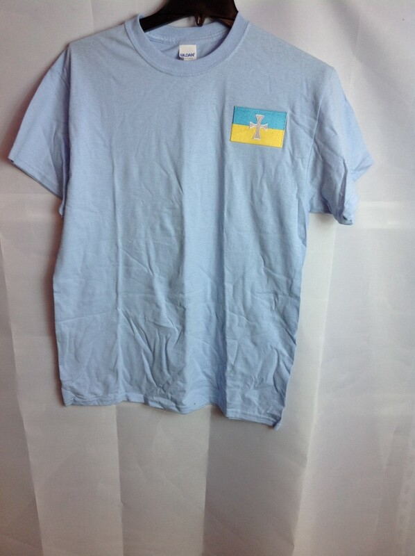 Super Savings - Sigma Chi Flag Emblem Tee - Light Blue