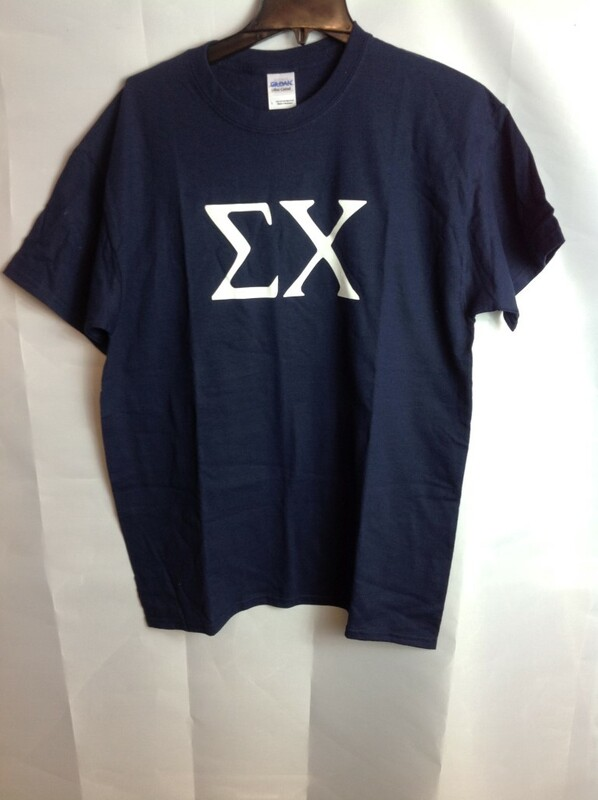Super Savings - Sigma Chi Letter Tee - Navy