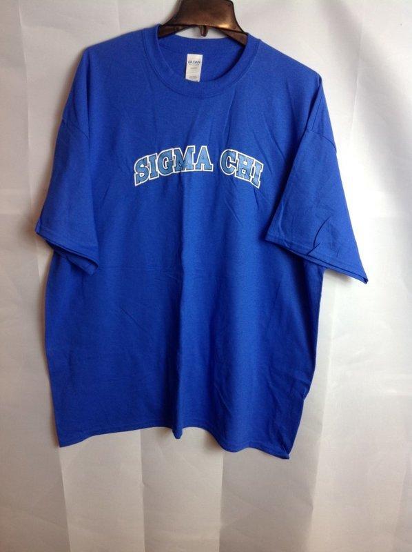 Super Savings - Sigma Chi Letterman T-Shirt - Blue