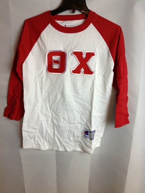 Super Savings - Theta Chi Ringer Shirt - White - Red