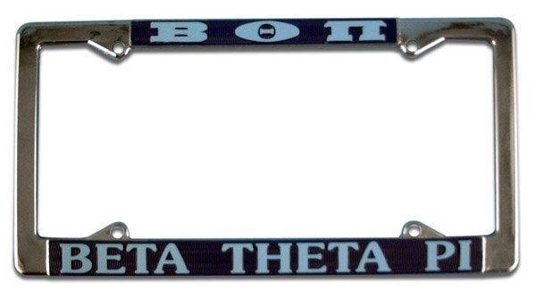 Beta Theta Pi License Plate Frame