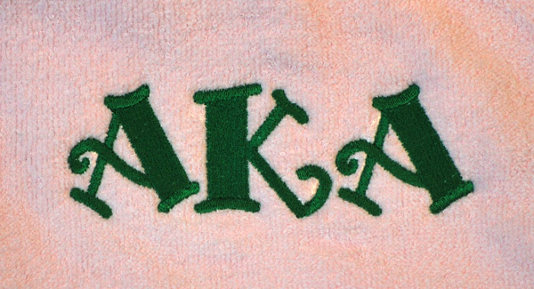Sorority Towels - Great for the Beach!