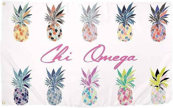 Chi Omega Pineapple Flag