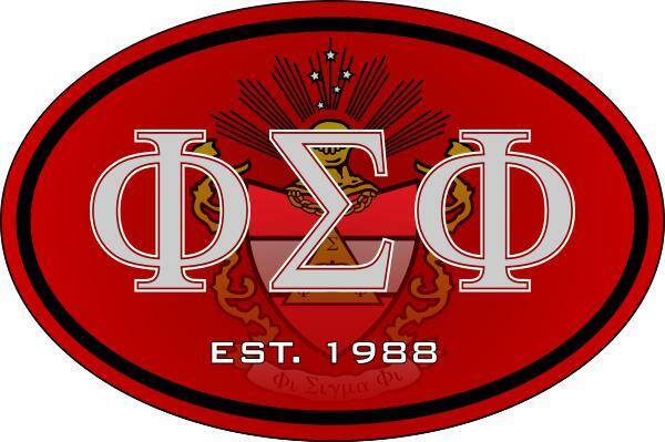 Phi Sigma Phi Color Oval Decal