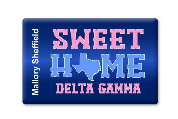 Delta Gamma Sweet Home Ceramic Magnet