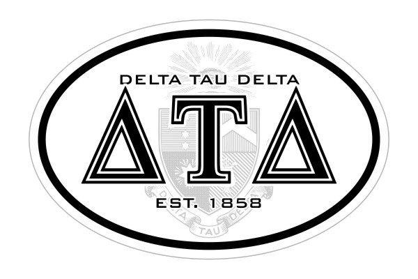 Delta Tau Delta Oval Crest - Shield Bumper Sticker - CLOSEOUT